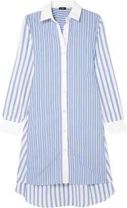 Clu Belted Striped Cotton Shirt Dress