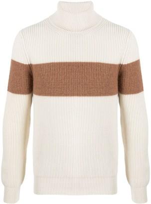 Moncler Stripe-Detail Ribbed-Knit Jumper