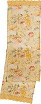 "April Cornell Gold Beckoning Bocas Linen Table Runner - 90"" long"