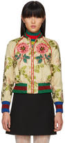 Gucci Multicolor Embroidered Silk Bomber Jacket
