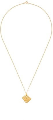 Alighieri Dragon 24K yellow gold-plated necklace
