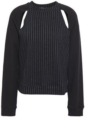 Koral Lift Cutout Pinstriped Modal-blend Sweatshirt
