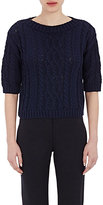 Philosophy di Alberta Ferretti WOMEN'S CABLE-KNIT CROP SWEATER SIZE 46 IT