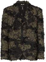 Comme Des Garçons Homme Plus Embroidered camouflage blazer