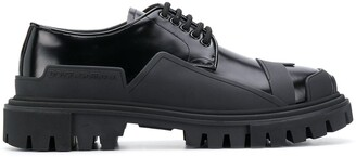 Dolce & Gabbana Rubber Detail Lace-Up Shoes