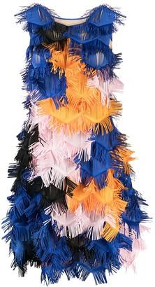 PASKAL clothes Ruffled Sleeveless Mini Dress