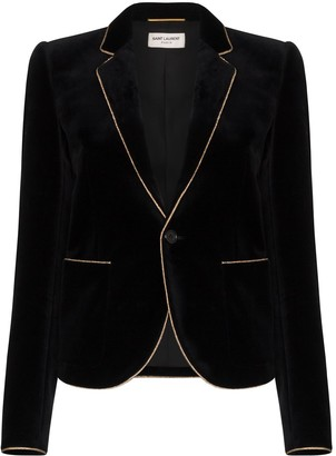 Saint Laurent Grosgrain Trim Blazer