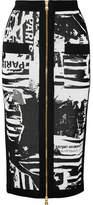 Balmain Jacquard-knit Midi Skirt - Black