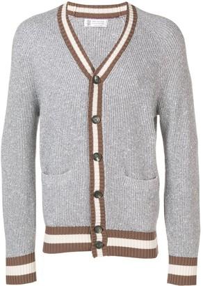 Brunello Cucinelli melange knitted cardigan