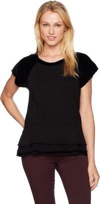 Wilt Women's Peplum Sweatshirt Mixed