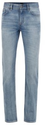 BOSS Slim-fit jeans in stone-washed comfort-stretch denim