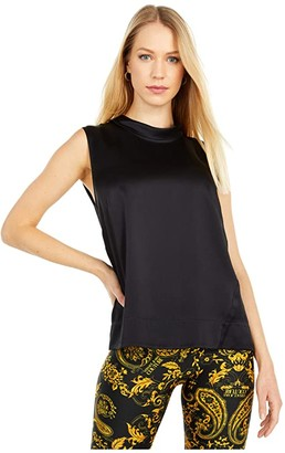 Jason Wu Back Tie Sleeveless Top (Black) Women's Clothing