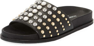 Kenneth Cole Xenia Studded Pool Slides