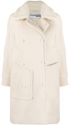Courreges Detachable-Collar Coat
