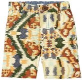 Blue Rooster Finn Shorts (Toddler/Kid) - Cream Ikat - 4 Years