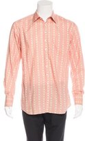 Paul Smith Floral Striped Dress Shirt