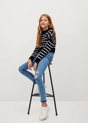 MANGO Knitted braided stripes sweater