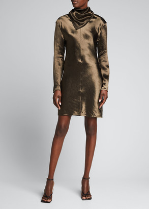 Bottega Veneta Neck-Scarf Sheath Dress