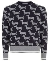 Thom Browne Dog Print Sweater