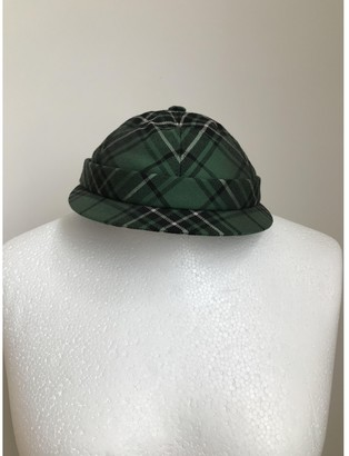 Bottega Veneta Green Wool Hats