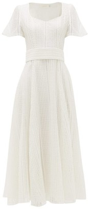 Goat Julip Sweetheart-neck Lace Dress - White