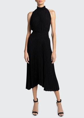 A.L.C. Renzo Pleated Halter Dress