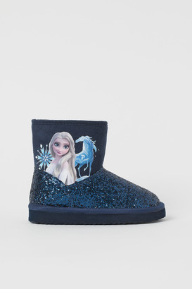 H&M Soft Boots with Printed Design