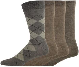 Dockers Men's 4-pack Argyle, Solid & Patterned Dress Socks