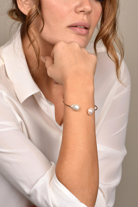 CHAINS AND PEARLS Baroque Pearl Cuff (14k Rose Gold)