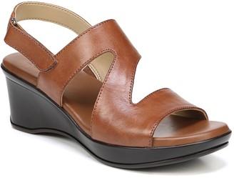 Naturalizer Leather Platform Slingback Sandals- Valerie