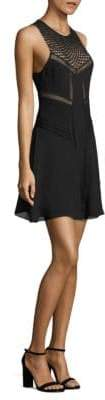 A.L.C. Elin Sheer-Inset Silk Dress