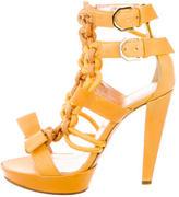 Viktor & Rolf Leather Platform Sandals w/ Tags