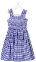 Simonetta checked ruffled dress