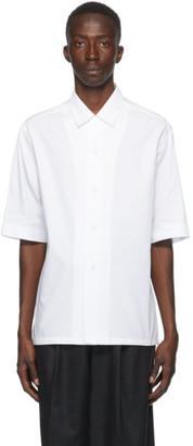 Bottega Veneta White Cotton Poplin Short Sleeve Shirt