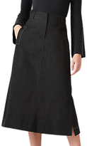 Jigsaw Denim Midi Skirt, Black