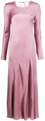 Semi-Couture Semicouture bias-cut long-sleeved dress