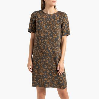La Redoute Collections Short Floral Print Dress with Short Sleeves