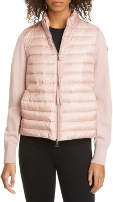 Moncler Quilted Down & Wool Short Jacket