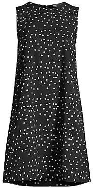 Eileen Fisher Women's Polka Dot Organic Cotton Sleeveless Dress