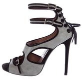 Tabitha Simmons Suede Multistrap Sandals