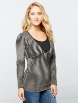 A Pea in the Pod Ripe Penny Striped Nursing Tee