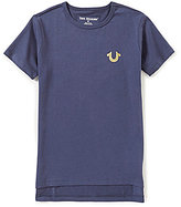 True Religion Big Boys 8-20 Gold Foiled High-Low Short-Sleeve Tee