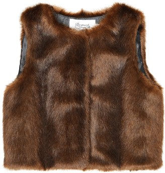 Bonpoint Poppy faux fur vest