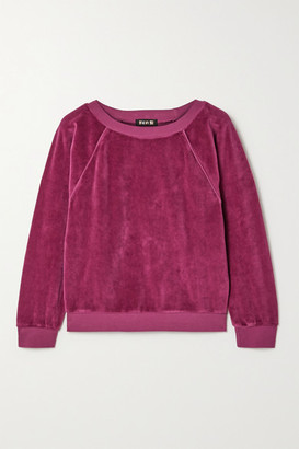 SUZIE KONDI Stretch Cotton-blend Velour Sweatshirt - Magenta