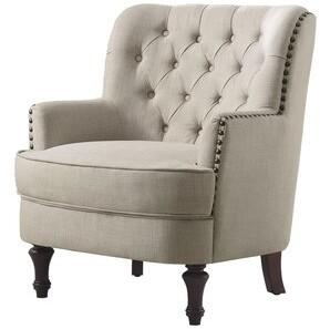 Three Posts Jayde Armchair Fabric: Beige