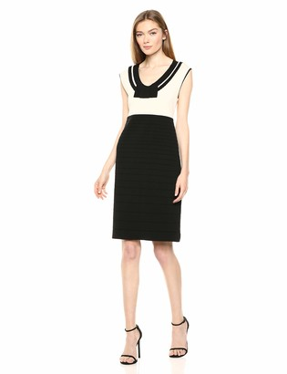 Anne Klein Women's Scallop Trim Knit Dress