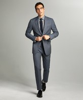 Todd Snyder Sutton Wool Linen Suit Jacket in Grey Navy Check