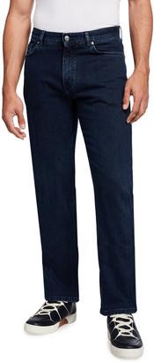 Ermenegildo Zegna Men's Straight-Leg Dark-Wash Regular-Fit Jeans