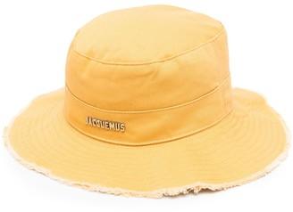 Jacquemus Logo-Plaque Wide-Brim Hat