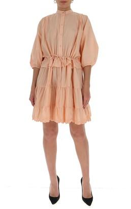 See by Chloe Ruffled Shirt Dress